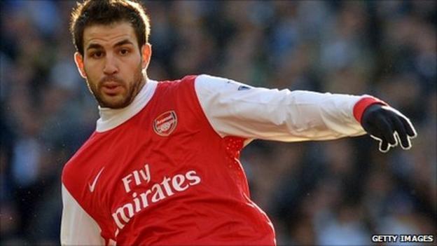 Cesc Fabregas in action for Arsenal
