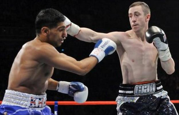 Amir Khan and Paul McCloskey