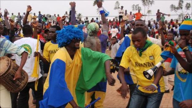 Rwandan football fans