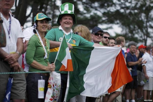 The Irish fans at Congressional
