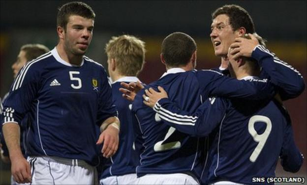 Scotland Under-21s in action