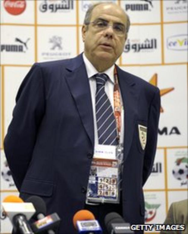 Algerian Football Federation president Mohamed Raouraoua