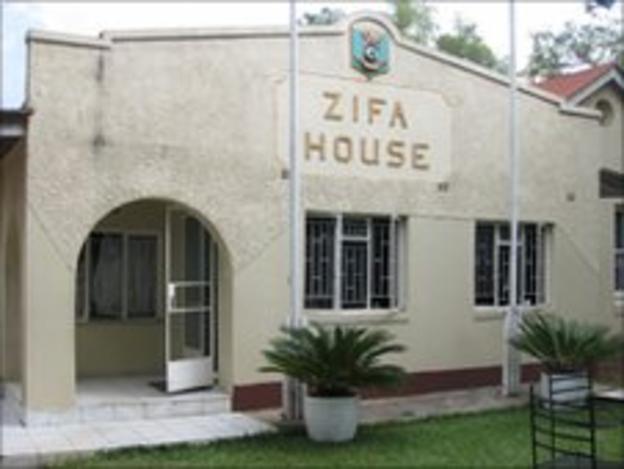 The headquarters of the Zimbabwe Football Association