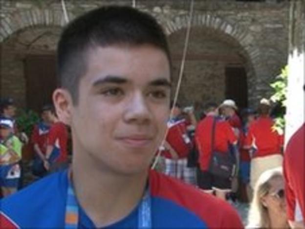 Special Olympian Alex Ferrier