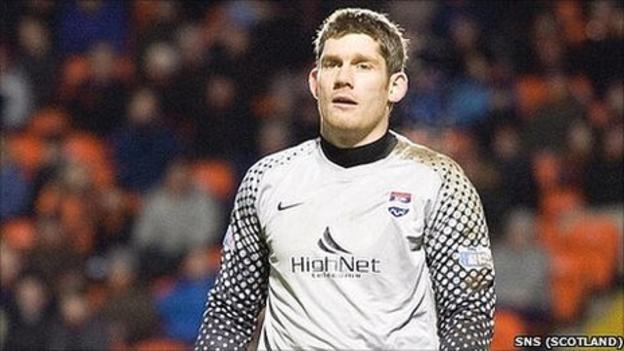 Ross County goalkeeper Michael McGovern