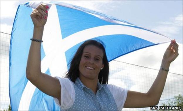Scotland's record cap holder Julie Fleeting