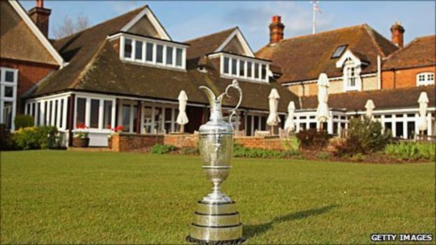 The Claret Jug and Royal St George's clubhouse
