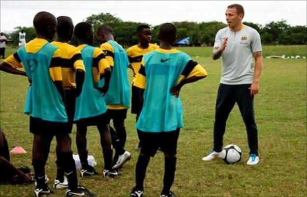 Craig Bellamy in Sierra Leone