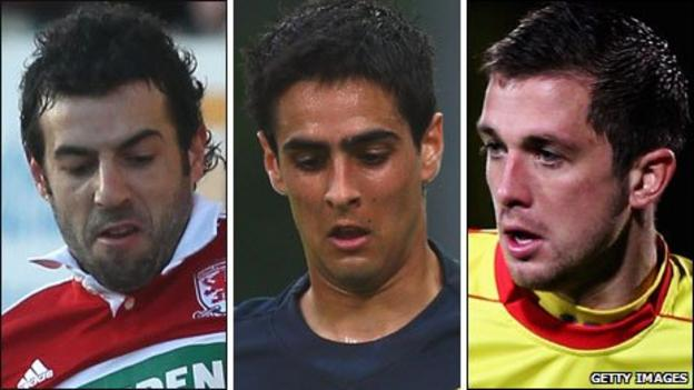 Julio Arca, Rhys Williams and Andrew Taylor