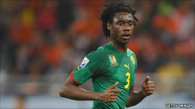Cameroon defender Nicolas Nkoulou