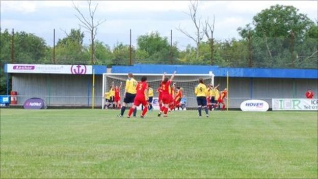 Isle of Man celebrate during their 4-0 win over Western Isles