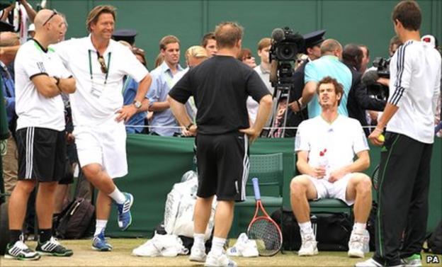 Jez Green, Sven Groeneveld, Matt Little, Andy Murray and Dani Vallverdu