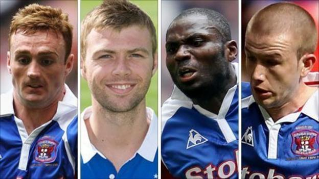 (l-r) Craig Curran, Rory Loy, Francois Zoko and Paddy Madden