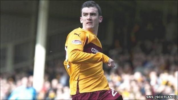 Gavin Gunning was on loan at Motherwell in the second half of last season