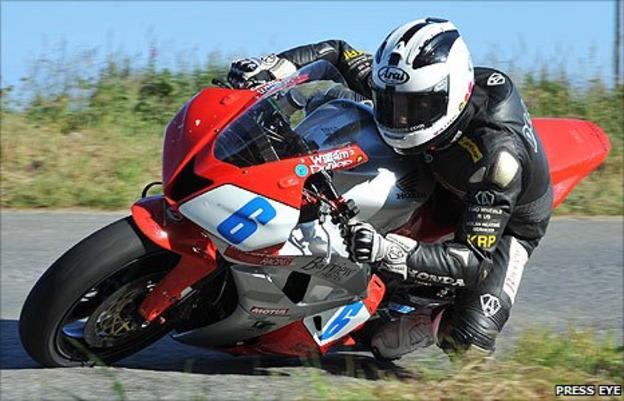 William Dunlop in action at the Skerries 100