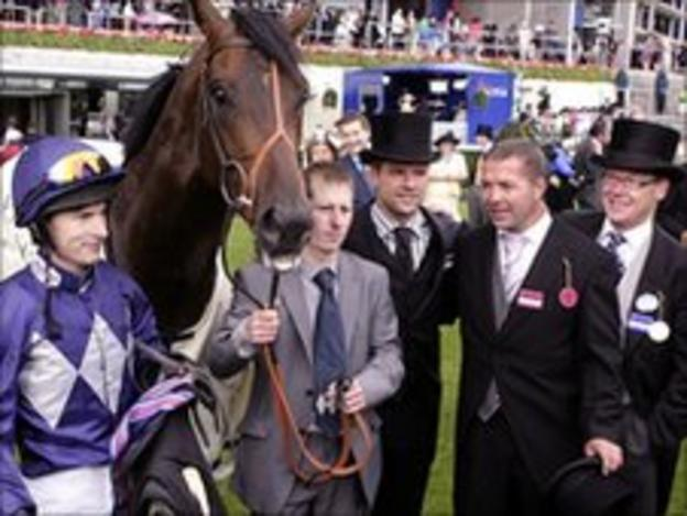 Michael Owen with Brown Panther at Royal Ascot