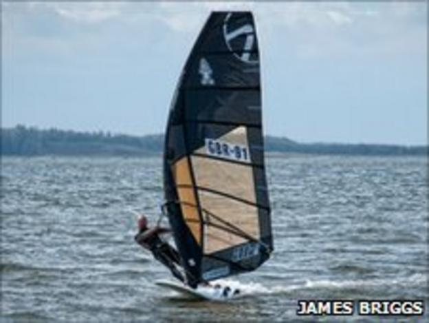 Windsurfer James Briggs