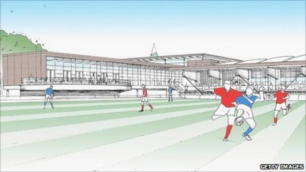 3D artist's impression of National Football Centre plans