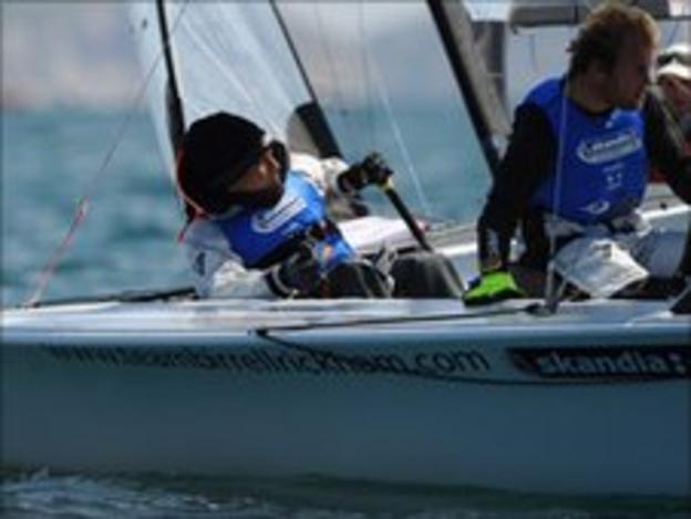 GB Paralympic sailors Alex Rickham and Niki Birrell