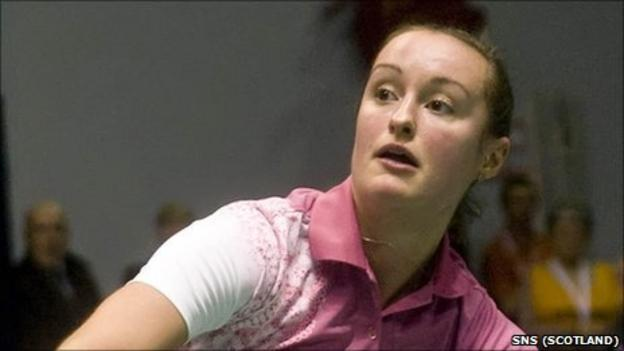 Scottish badminton star Susan Egelstaff