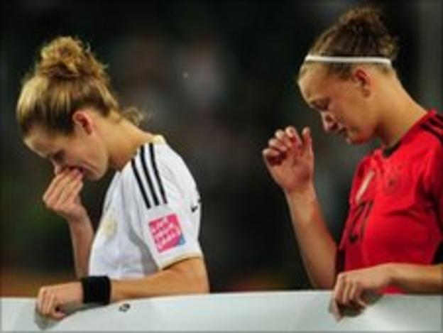 German players after their shock defeat