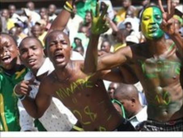 Yanga fans celebrating