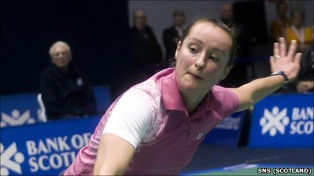 Scottish badminton player Susan Egelstaff