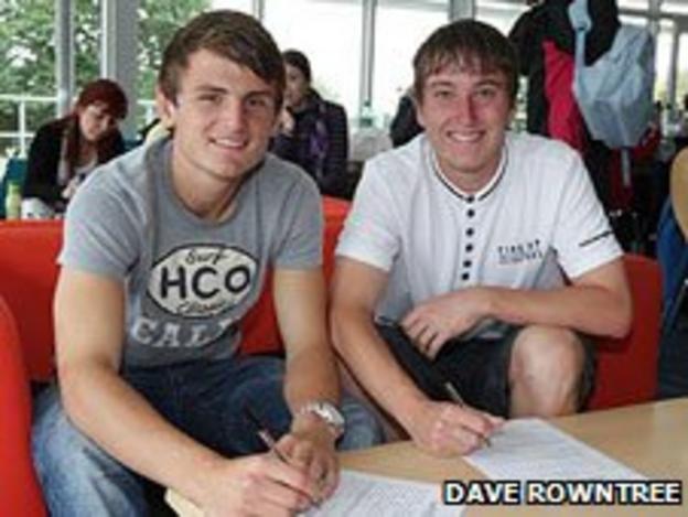 Jamie Richards (left) and Luke Young