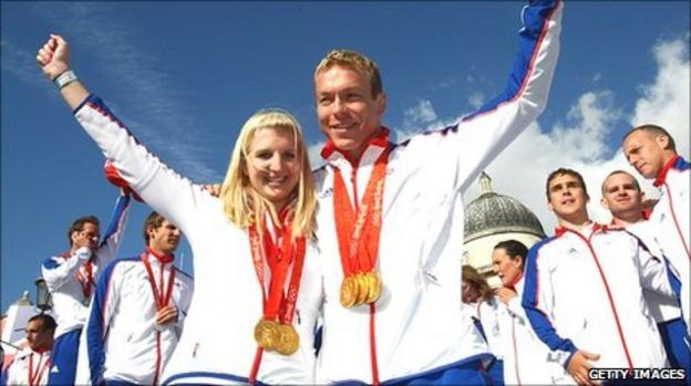 Becky Addlington and Sir Chris Hoy