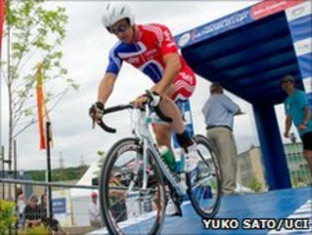 GB Para-cyclist Mark Colbourne. Pic: Yuko Sato/UCI