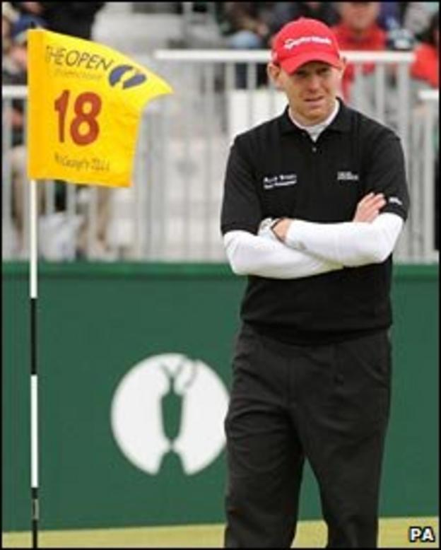 Stephen Gallacher at the 18th