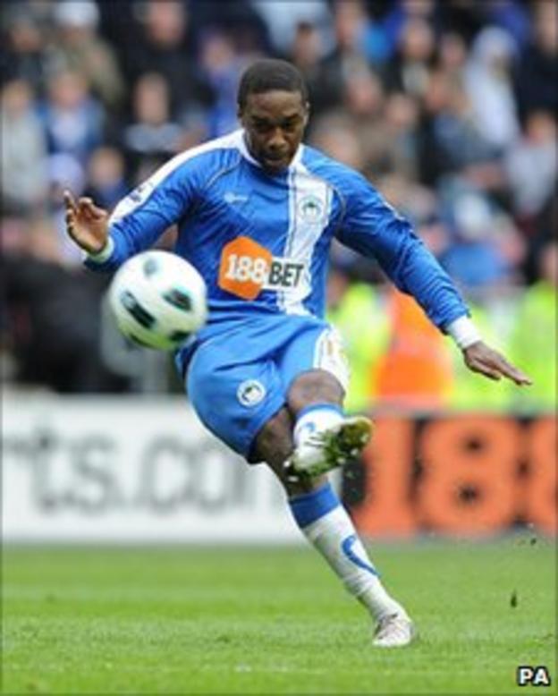 Wigan Athletic winger Charles N'Zogbia