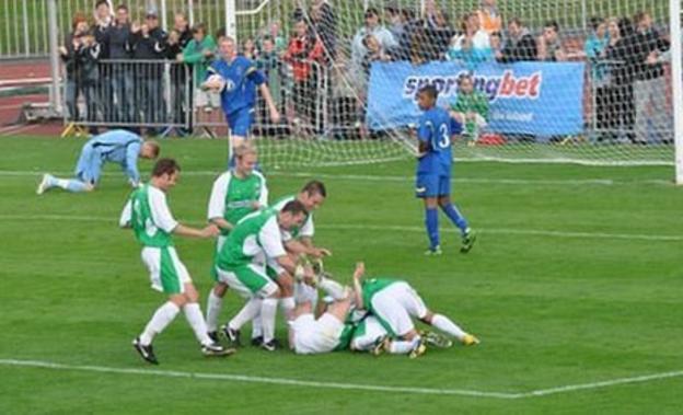 Football: Guernsey FC v AFC Wimbledon