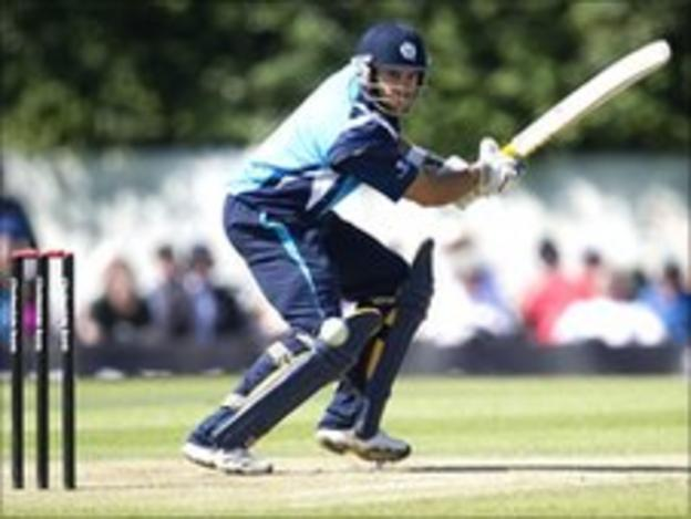 Saltires batsman Kyle Coetzer