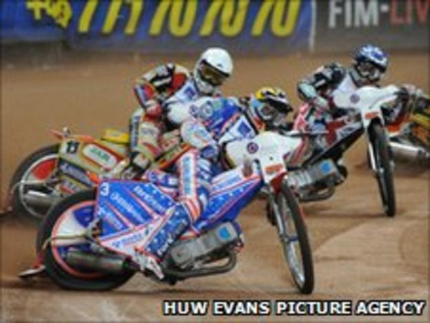 Speedway action at the Millennium Stadium