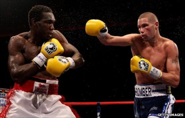Ovill McKenzie and Tony Bellew (right)