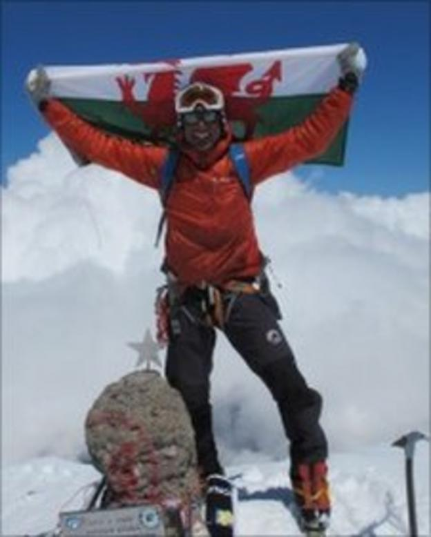 Richard Parks on the top of Mount Elbrus