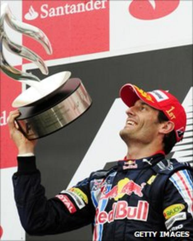 Red Bull F1 driver Mark Webber