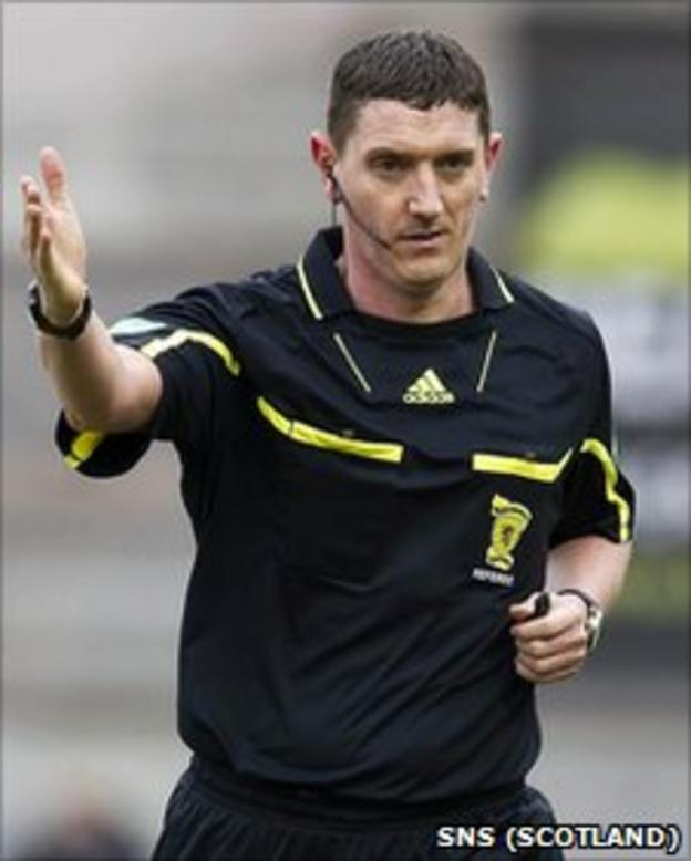 Scottish grade one referee Craig Thomson