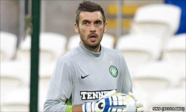 Celtic trialist Stipe Pletikosa