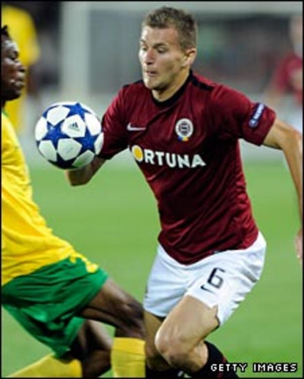 Milos Lacny in action for Sparta