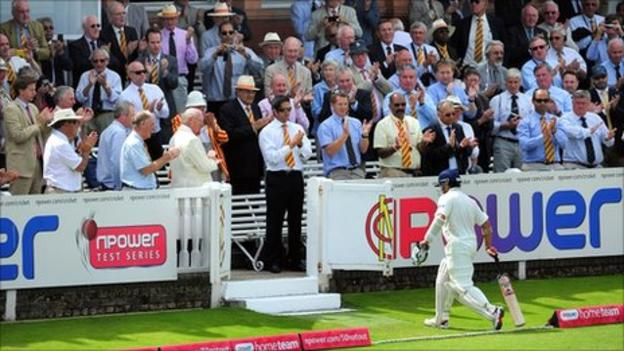 Sachin Tendulkar was out for 12 at Lord's
