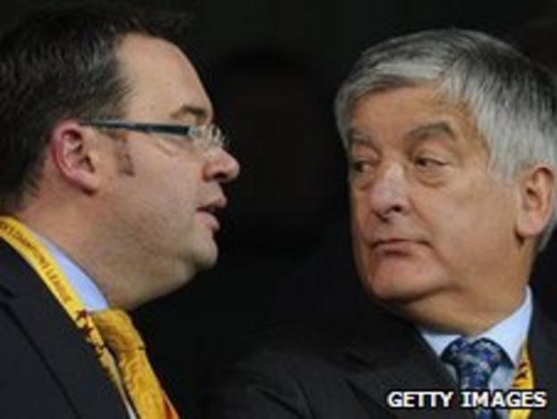 FA General Secretary Alex Horne (left) and FA Chairman David Bernstein