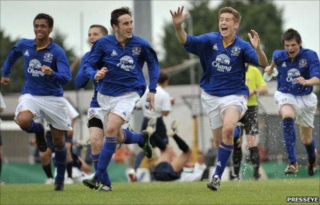 George Newell's penalty sealed Everton's victory