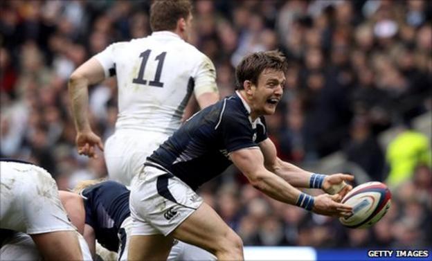 Scotland scrum-half Rory Lawson