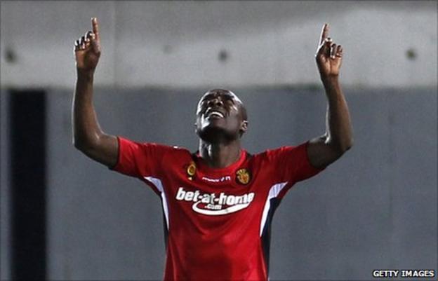 Cameroon forward Pierre Webo