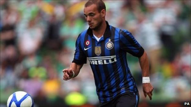 Inter Milan's Wesley Sneijder