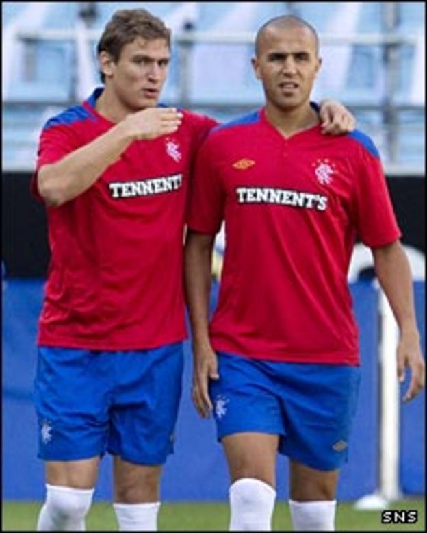 Nikica Jelavic and Madjid Bougherra