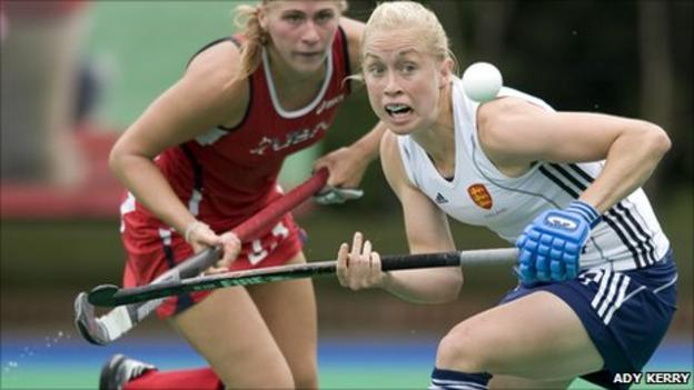 Natalie Seymour playing against USA