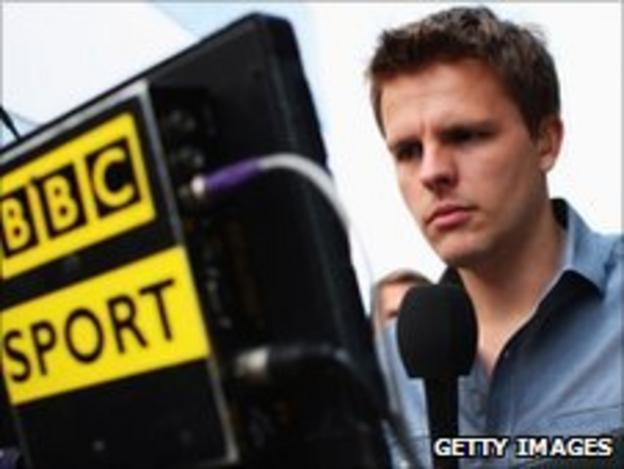 BBC F1 presenter Jake Humphrey
